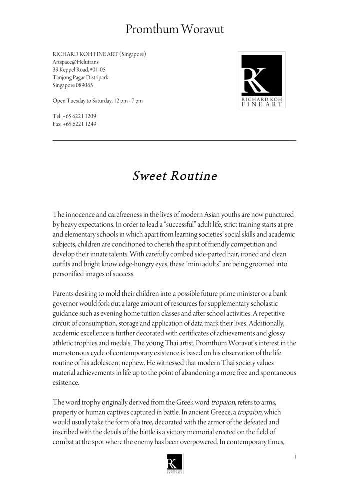Promthum Woravut – Sweet Routine