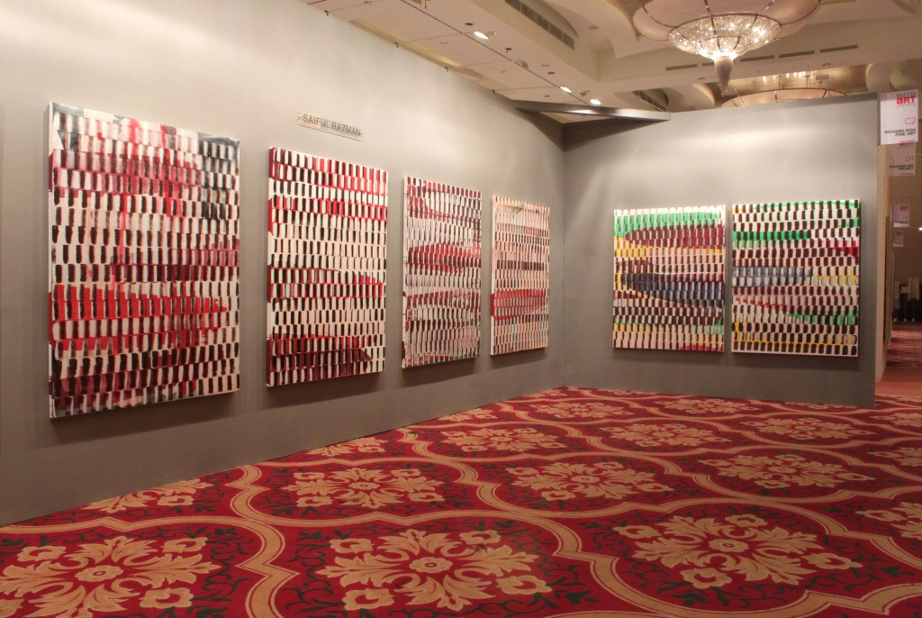 Saiful Razman, Vertical Speed, Bazaar Art Jakarta installation shot 19
