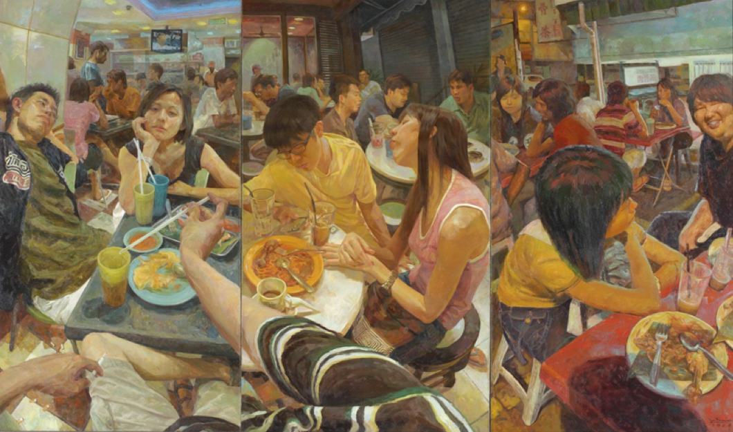"Gan Chin Lee's ""I'm in Mamak Stall"" (2008) as cover artwork for ""Hungry in Ipoh"""