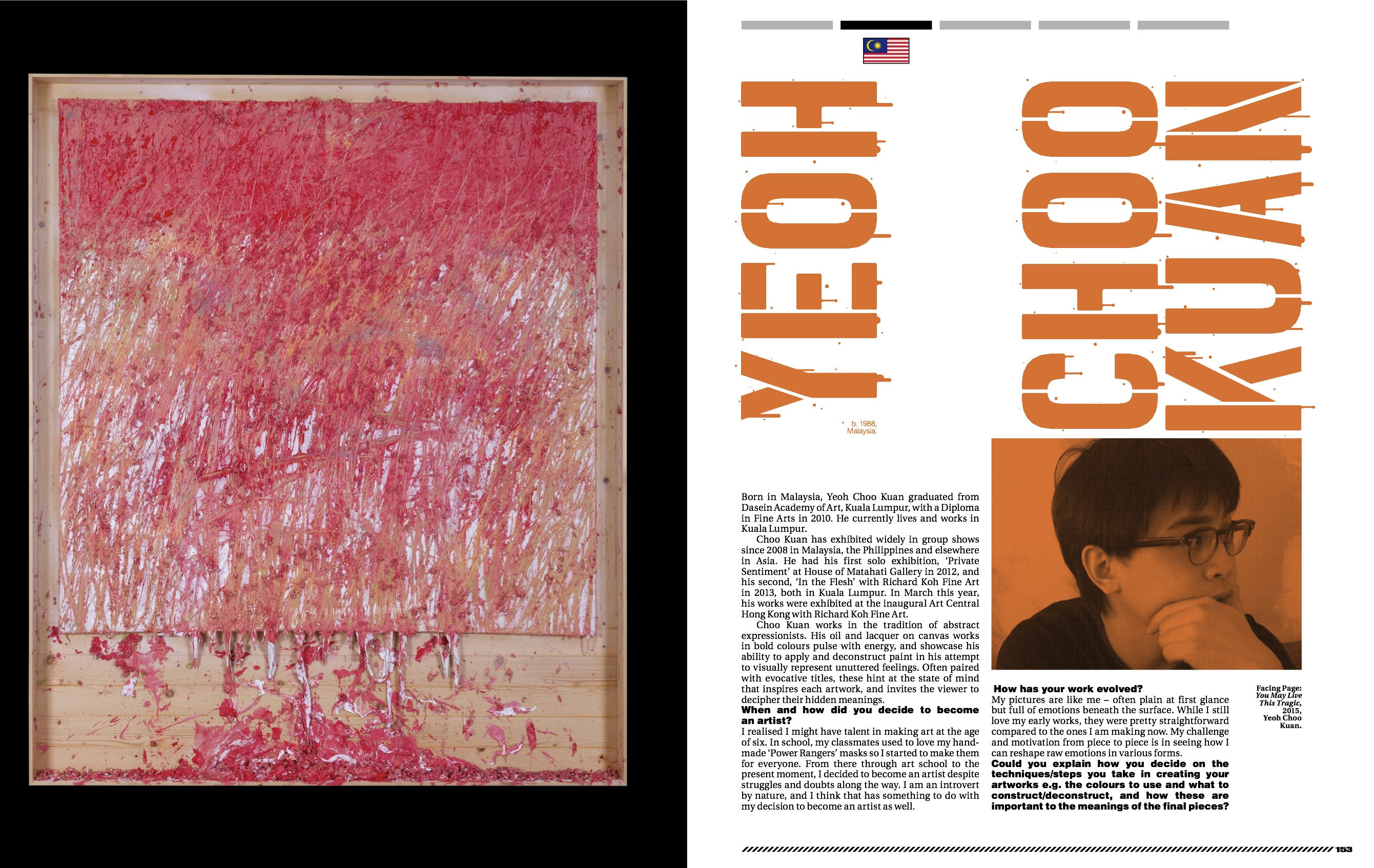 Yeoh Choo Kuan featured in New Blood for Art Republik (Issue No. 8)