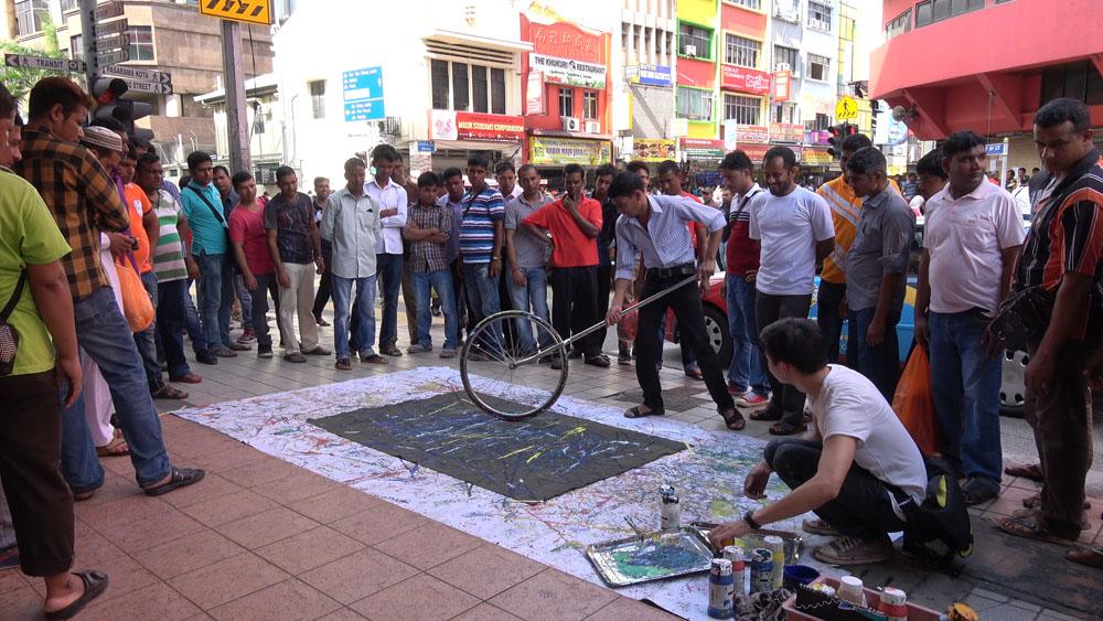 Jalan Yap Ah Loy, Kuala Lumpur, 160707 (6 Painters : 2 Wheels)