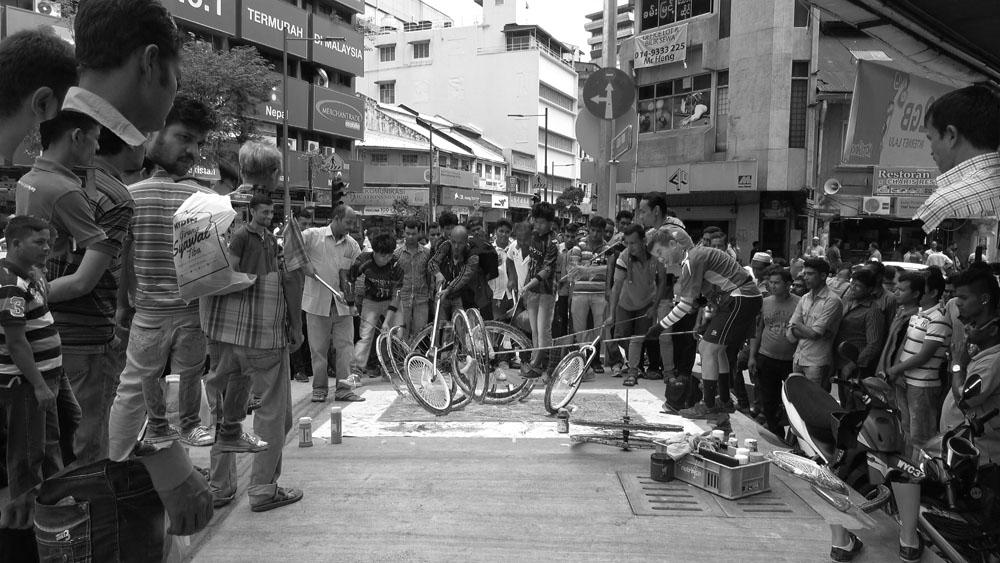Lebuh Pudu, Kuala Lumpur, 160626 (10 Painters ; 3 Wheels)