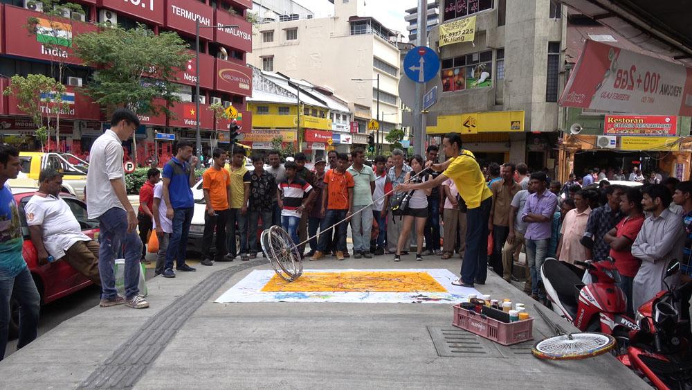 Jalan Tun Tan Siew Sin, Kuala Lumpur, 160626 (10 Painters : 3 Wheels)