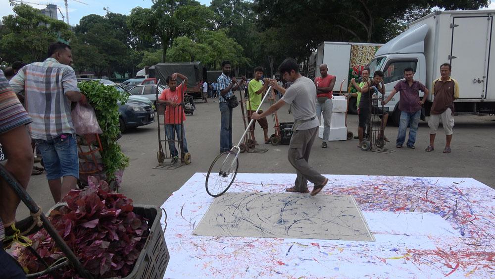 Pusat Bandar Utara Selayang, 160613 (9 Painters ; 2 Wheels)