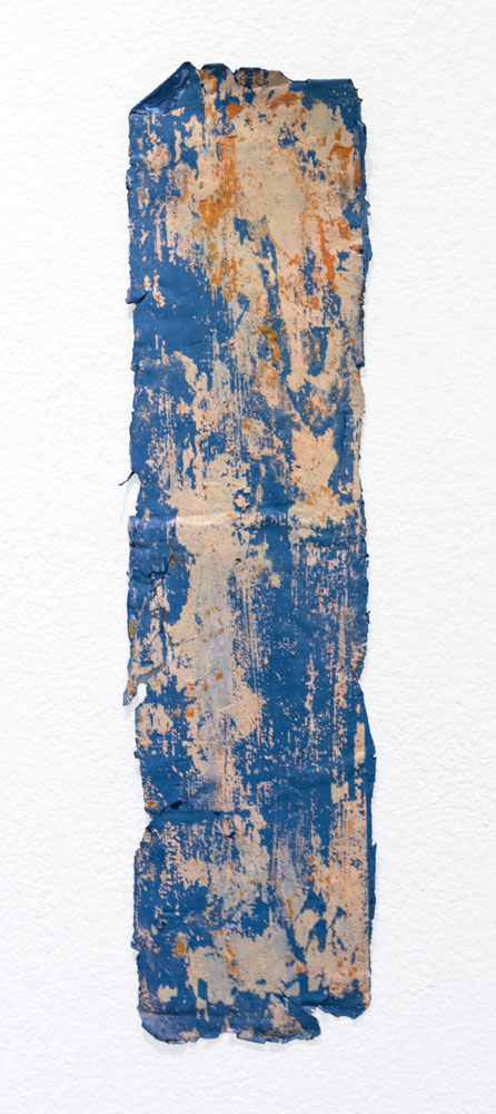 Traces and Residues: Light Orange on Blue #01