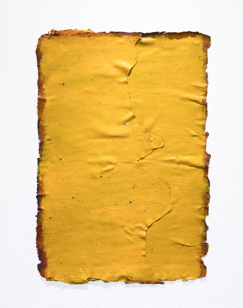 Traces and Residues: Orange on Sienna #01