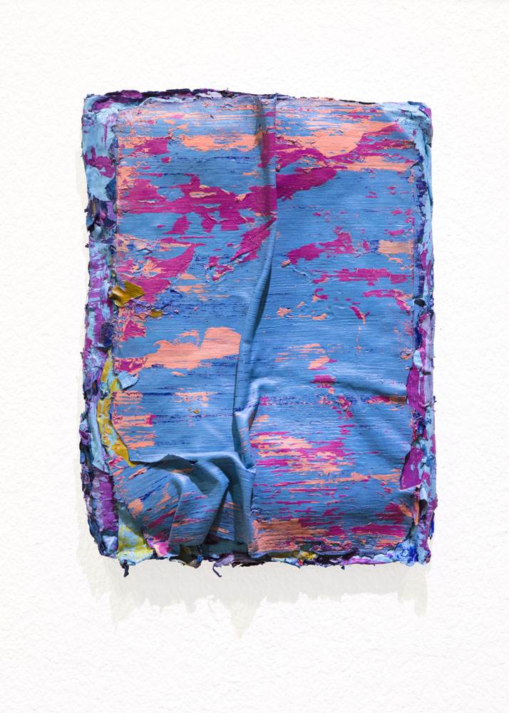 Traces and Residues: Pink on Blue #01
