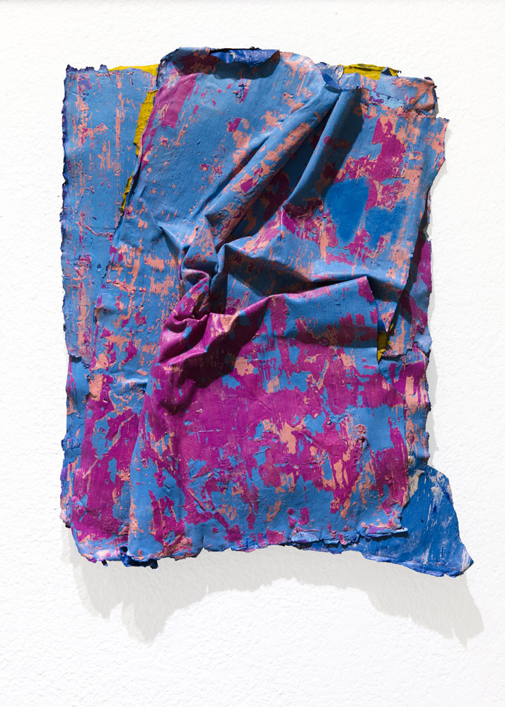 Traces and Residues: Pink on Blue #02
