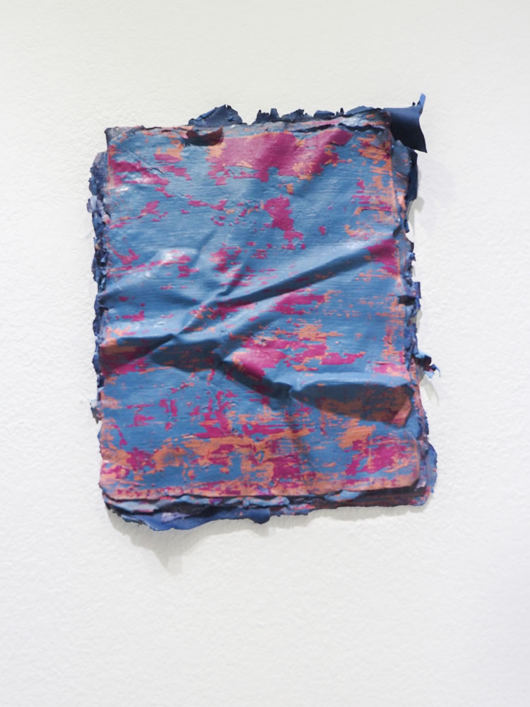 Traces and Residues: Pink on Blue #03