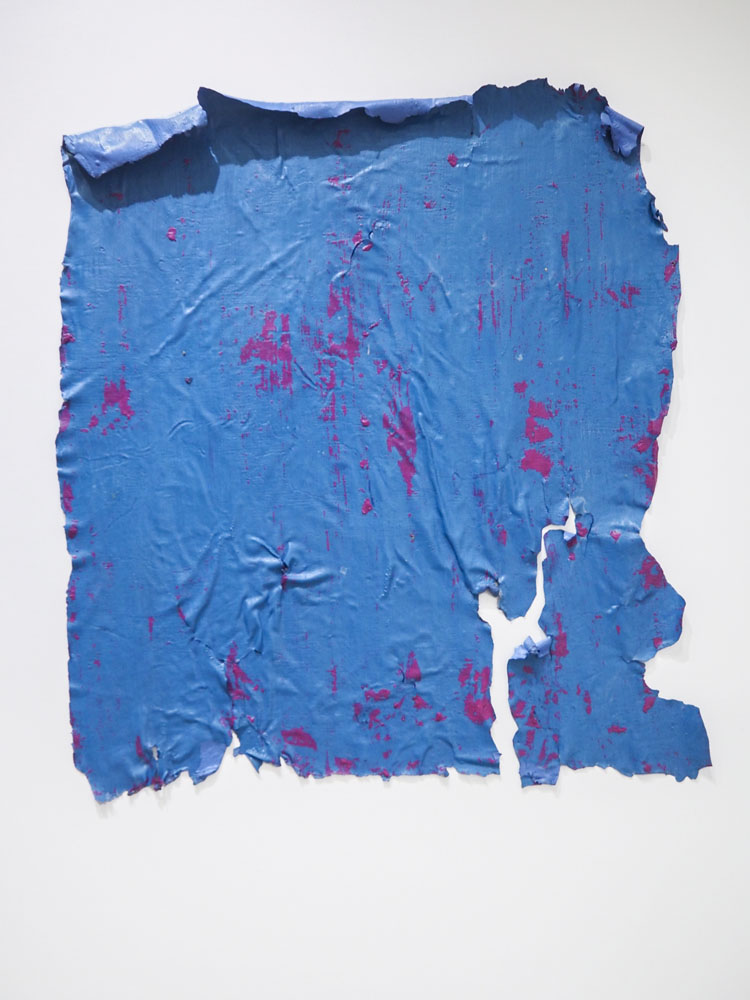 Traces and Residues: Purple on Blue #02