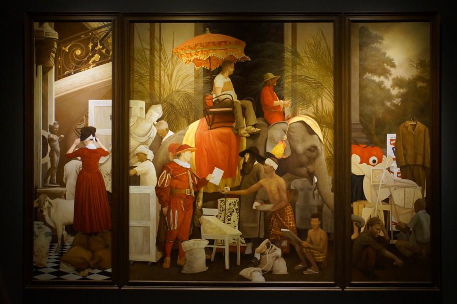 Jakarta Globe – Thai Artist's Altarpieces Satirize Western Thinking