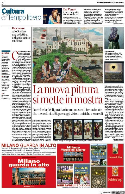 Corriere Della Sera Milano – La Nuova Pittura Si Mette In Mostra (Natee Utarit)