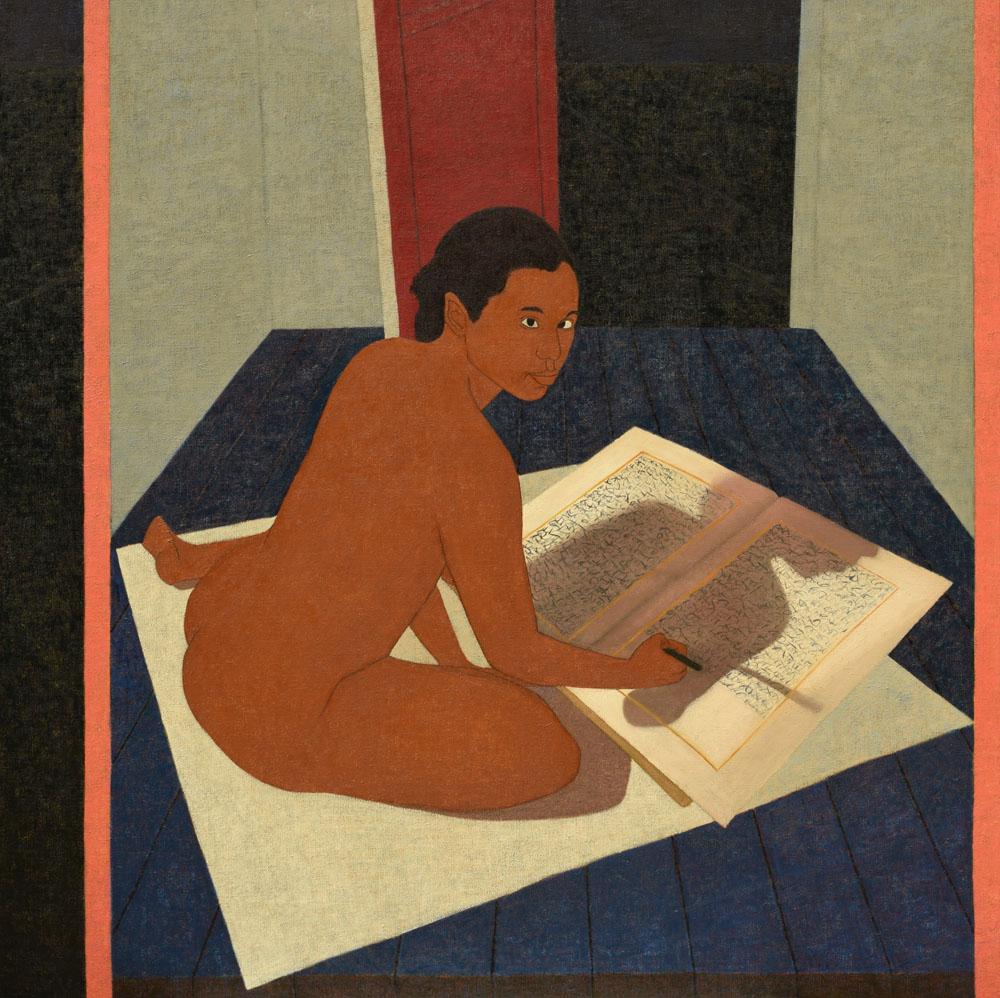 Performing Painting: Seated Scribbler