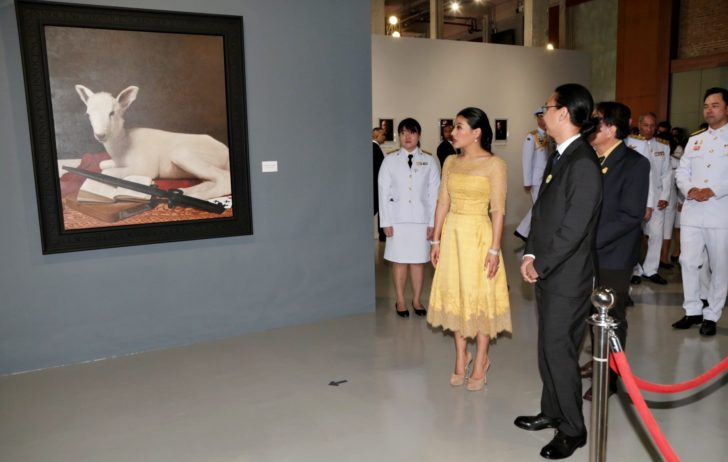 "Matichon Online – Princess Siriwanawaree received the words ""Art is the foundation for everything."""