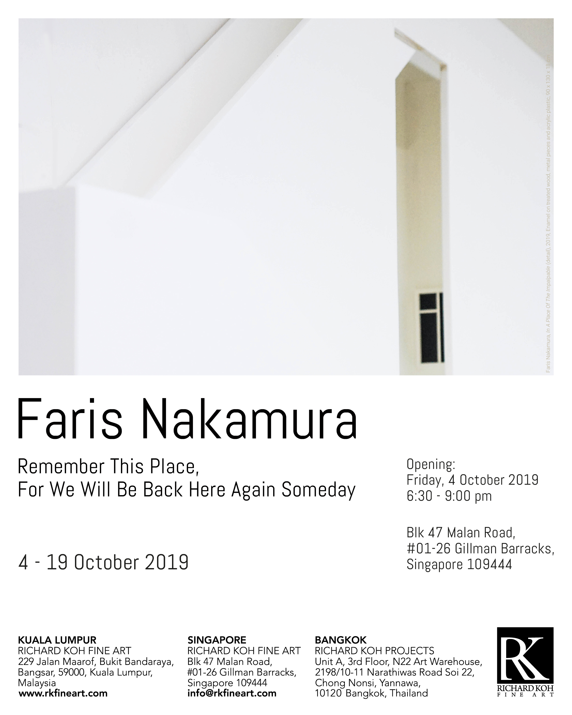 Faris Nakamura – Remember This Place, For We Will Be Back Here Again Someday