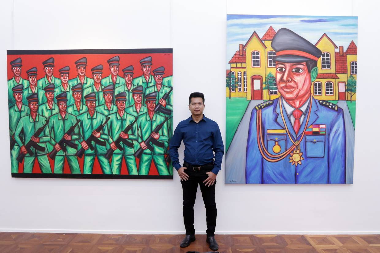 The Star – Cambodian Painter Pen Robit Offers Snapshots of Reality Through His Colourful Art