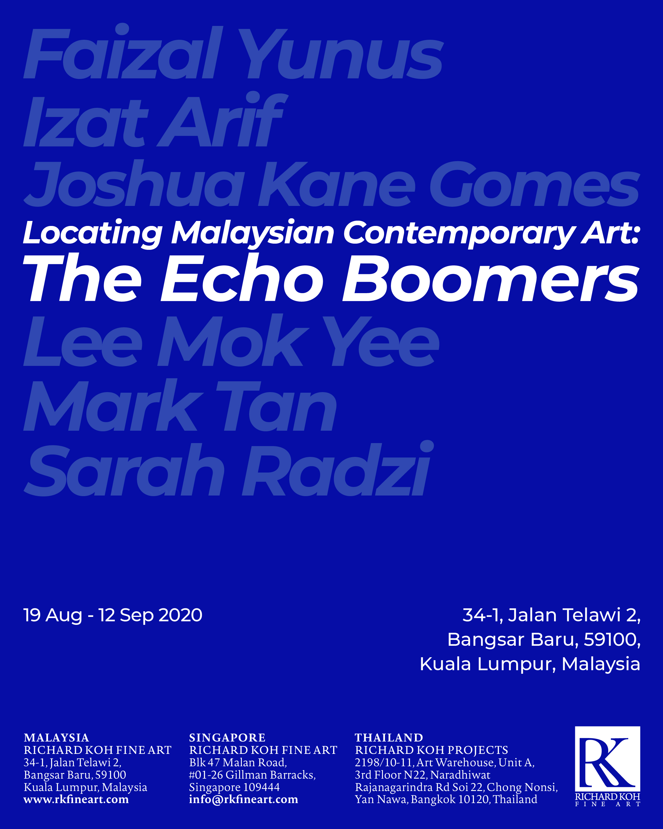 Faizal Yunus, Izat Arif, Joshua Kane Gomes, Lee Mok Yee, Mark Tan & Sarah Radzi – Locating Malaysian Contemporary Art: The Echo Boomers