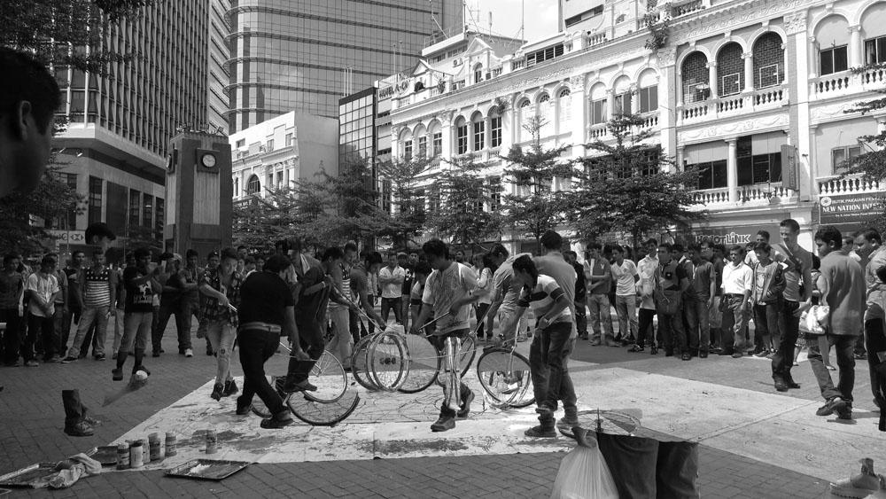 Medan Pasar, Kuala Lumpur, 160703 (15 Painters ; 3 Wheels)