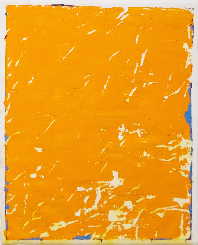 Traces and Residues: Blue on Orange #01