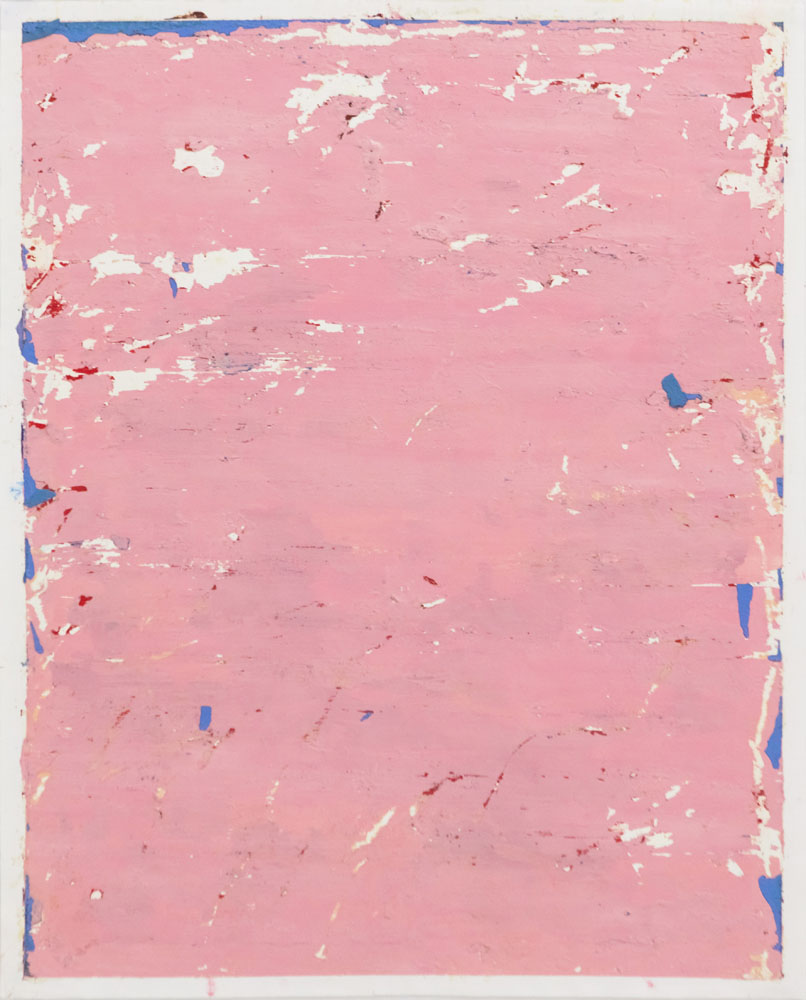 Traces and Residues: Blue on Pink #02