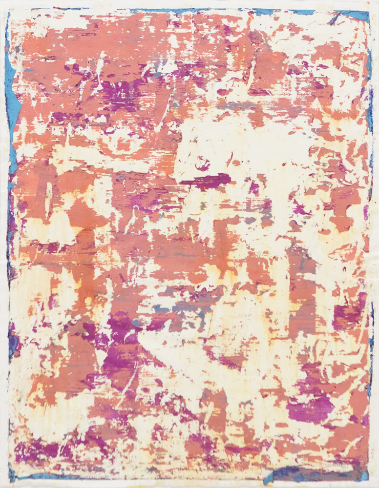 Traces and Residues: Blue on Purple and Pink #02