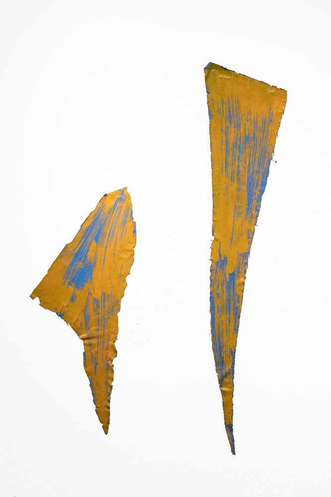 Traces and Residues: Blue on Yellow #02