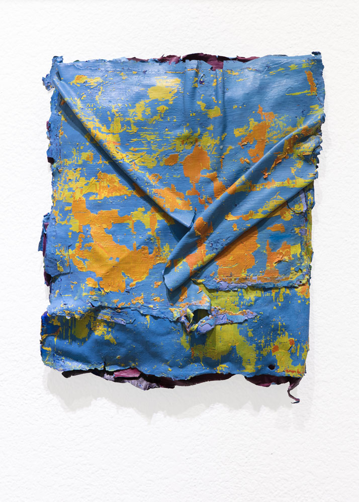 Traces and Residues: Orange on Blue #02