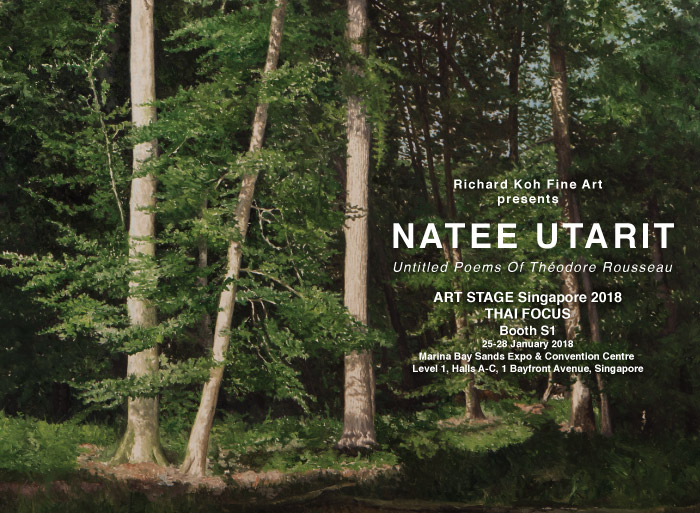 Art Stage Singapore – Natee Utarit, Untitled Poems of Théodore Rousseau