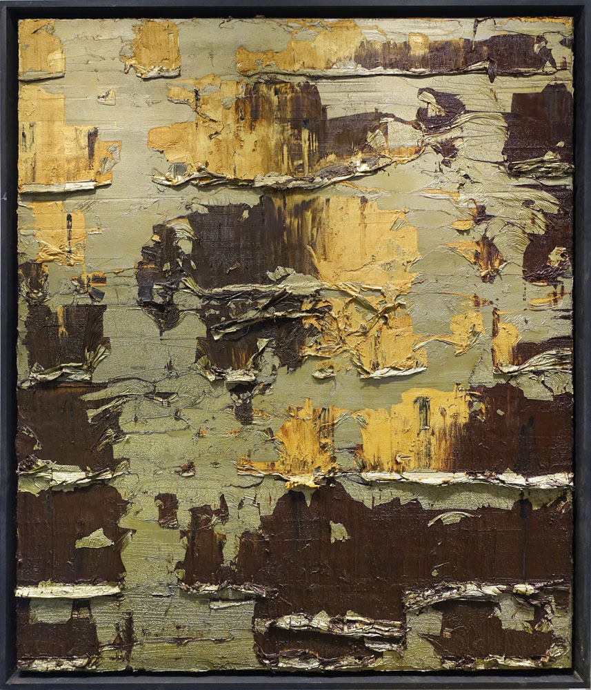 Traces in Gold and Brown I