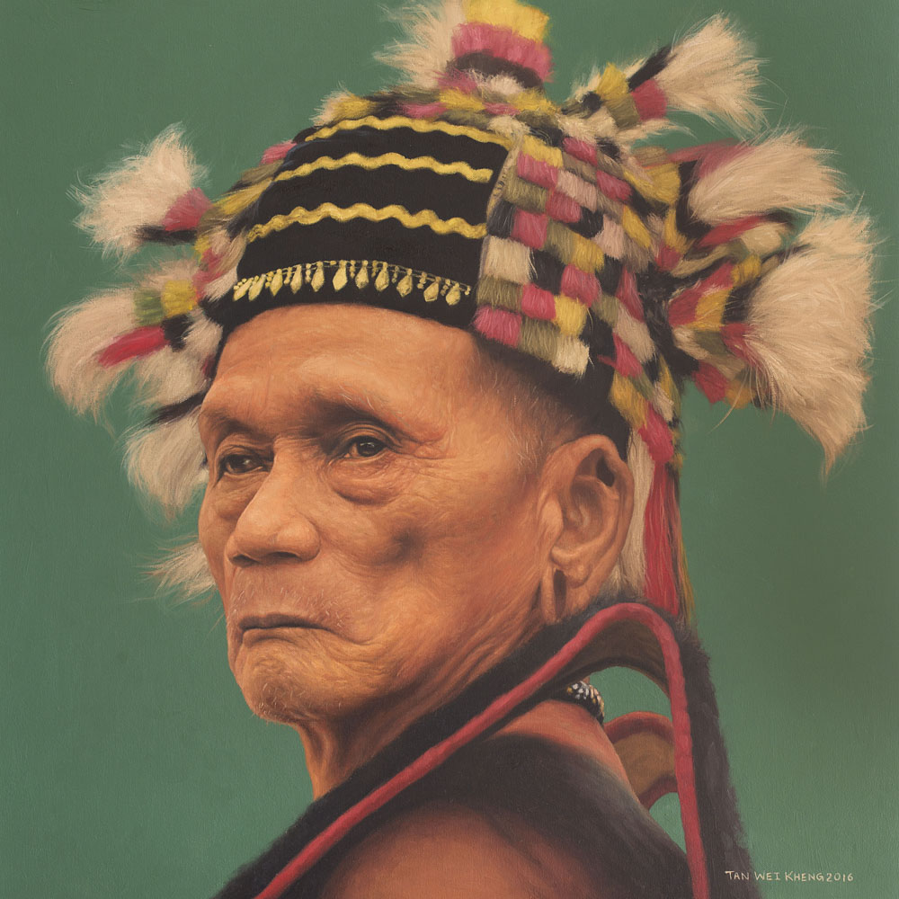 Portrait of Kayan Headman