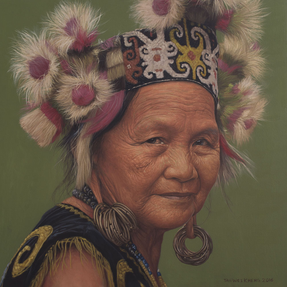 Portrait of Kenyah Woman