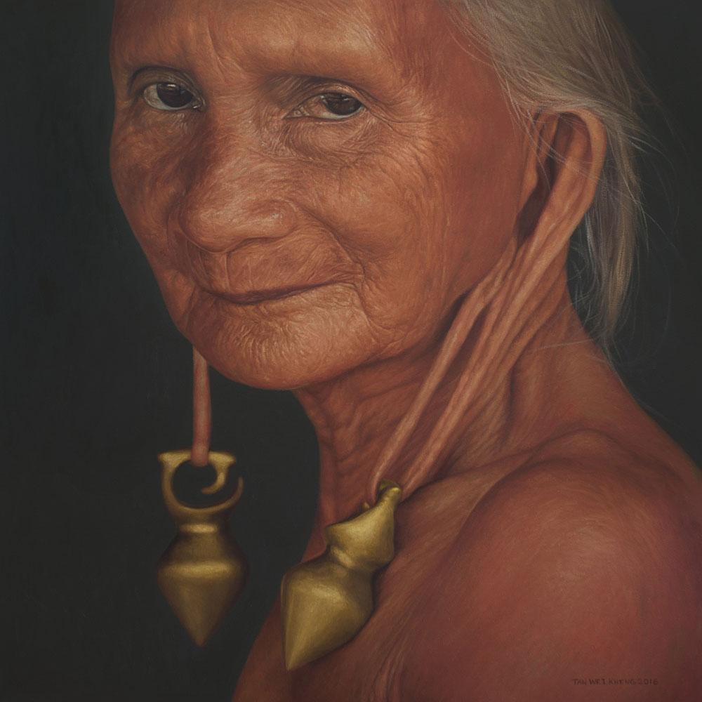 Portrait of Kenyah Woman No.2