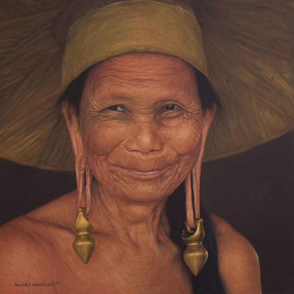 Portrait of Kenyah Woman No.3