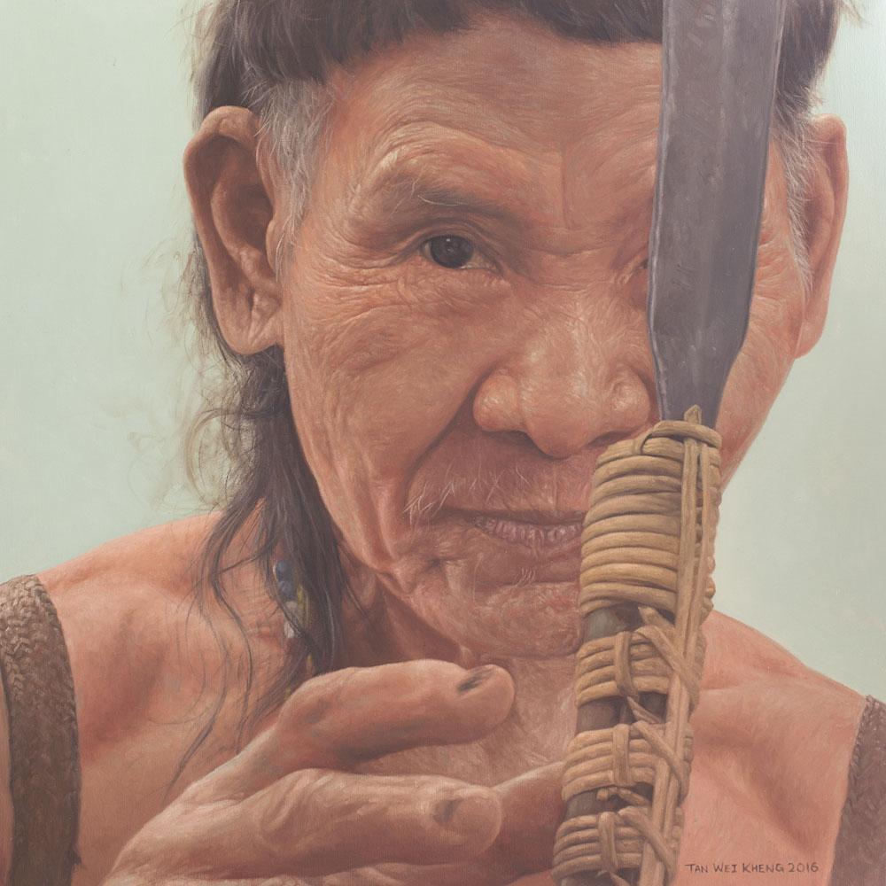 Portrait of Penan Hunter - Bulo Engan