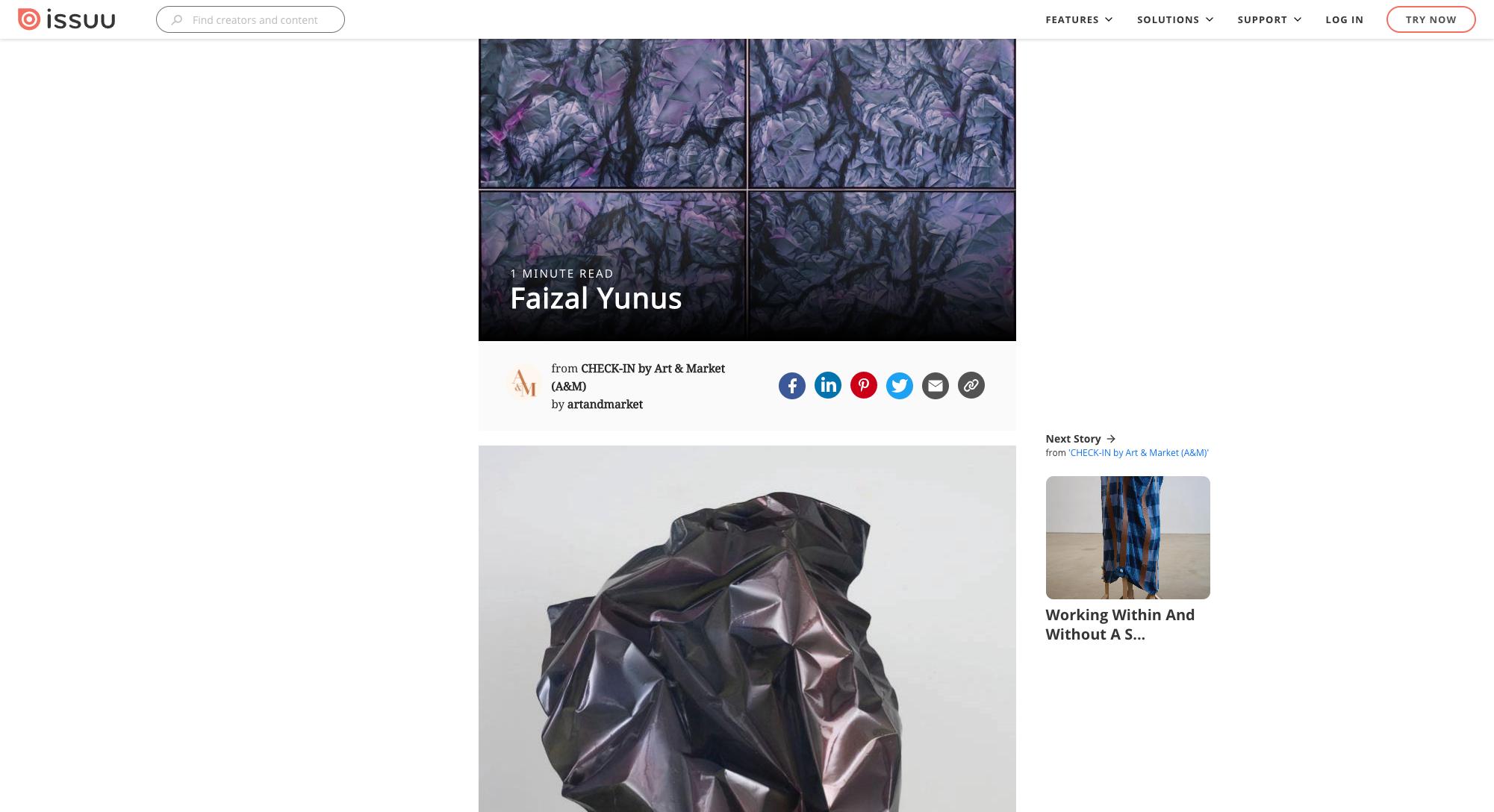 ISSUU (by Art&Market): Fresh Faces – Faizal Yunus